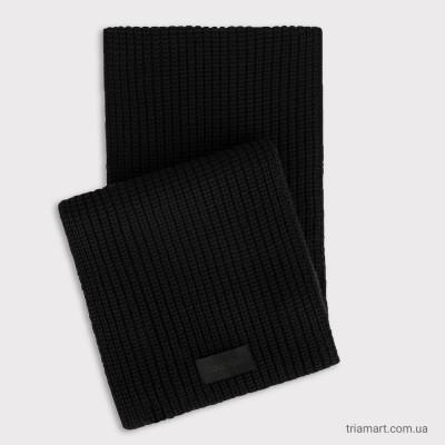 Мужской шарф CALVIN KLEIN BLACK RIBBED