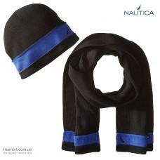 Набор шарф шапка Nautica Raised Stripe