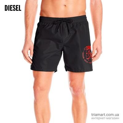 Плавки Diesel Sandy Wave Mohican Logo Red шорты