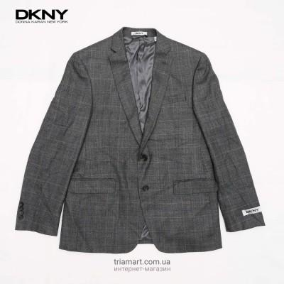 Пиджак блейзер DKNY Plaid Notch Lapel серый