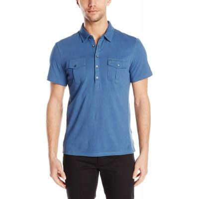 Поло Calvin Klein Jeans 2 Pocket Polo синее