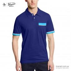 Поло Original Penguin Color Block Pocket синее