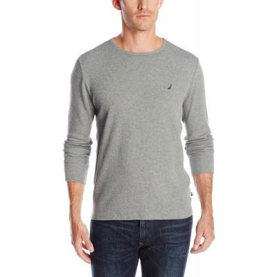 Термофутболка Nautica Thermal Shirt Solid Long Sleeve Crew серая