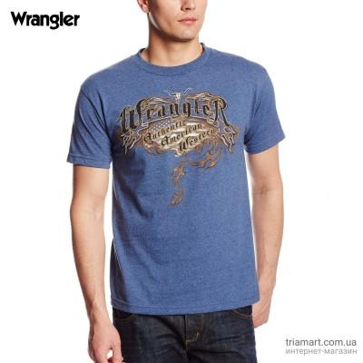 Футболка Wrangler Western Authentic синяя