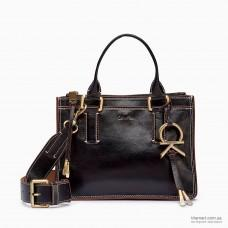 Женская сумка CALVIN KLEIN LEATHER ZIP SATCHEL